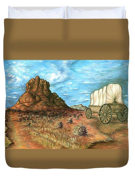 Sedona Arizona - Western Art Painting Duvet Cover