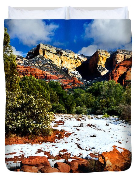 Sedona Arizona - Wilderness Duvet Cover by Bob and Nadine Johnston