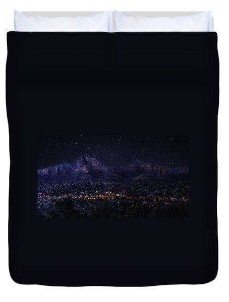 Sedona By Night Duvet Cover by Lynn Geoffroy