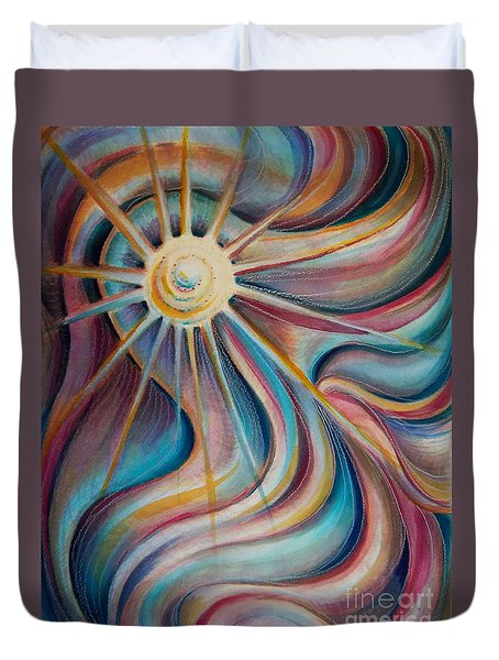 Duvet Cover featuring the painting Sedona Charm by Dee Davis