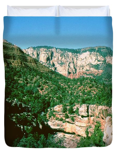Duvet Cover featuring the photograph Sedona  by Gary Wonning