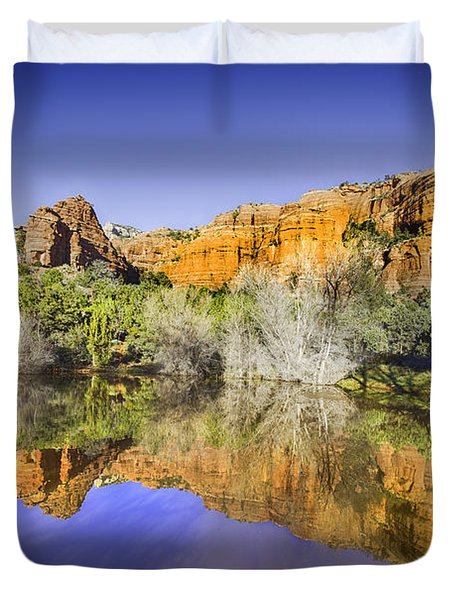 Sedona Red Rock Reflection Duvet Cover