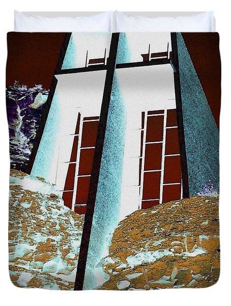 Sedona Rock Church Duvet Cover