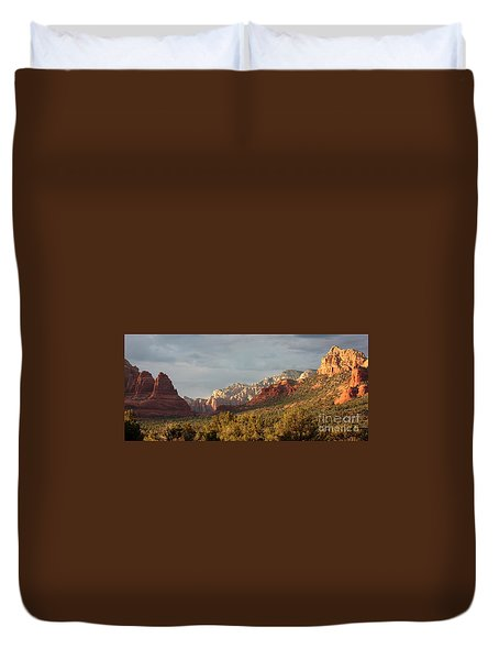 Sedona Sunshine Panorama Duvet Cover