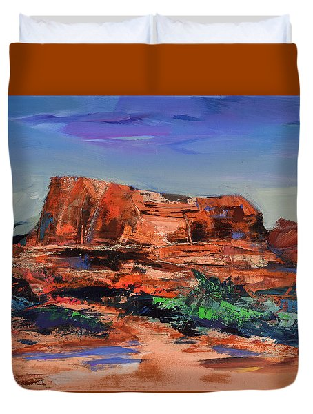 Courthouse Butte Rock - Sedona Duvet Cover