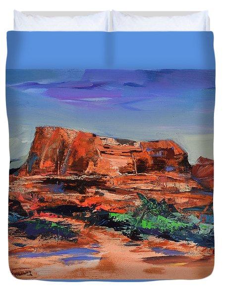Courthouse Butte Rock - Sedona Duvet Cover