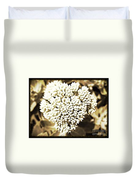 Sedum In The Heart Duvet Cover