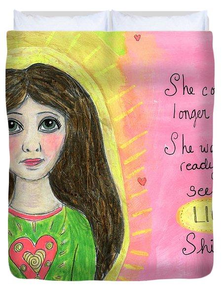 See Her Light Shine Duvet Cover