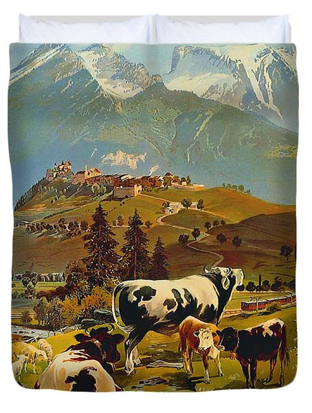 See Switzerland 1906 Duvet Cover by Mountain Dreams