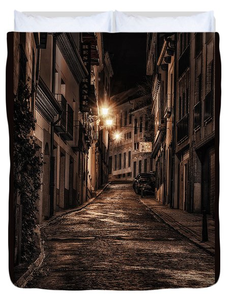 Segovia Predawn Duvet Cover by Joan Carroll