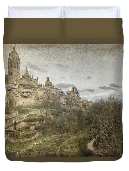 Segovia View Duvet Cover by Joan Carroll