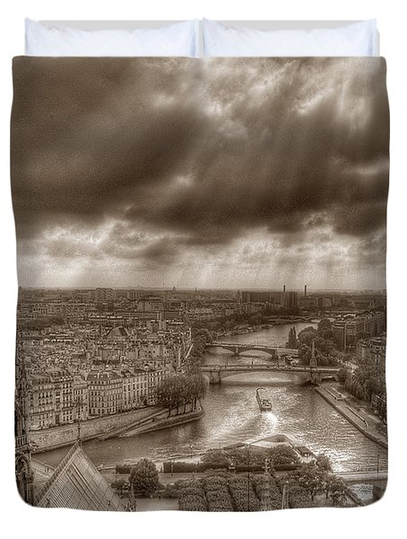 Seine From Notre Dame Duvet Cover
