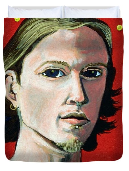 Self Portrait 1995 Duvet Cover by Feile Case