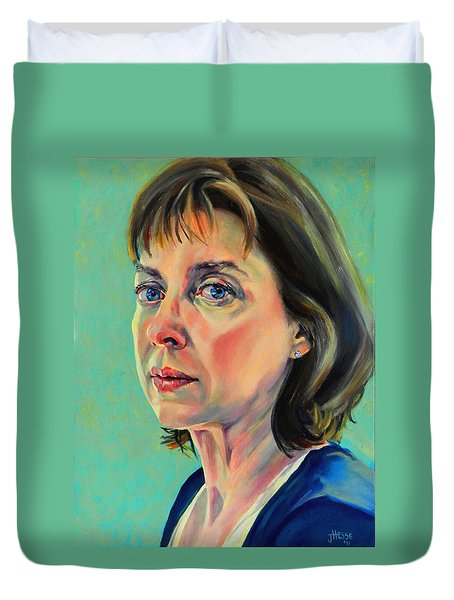 Self Portrait 2011 Duvet Cover by Jolante Hesse