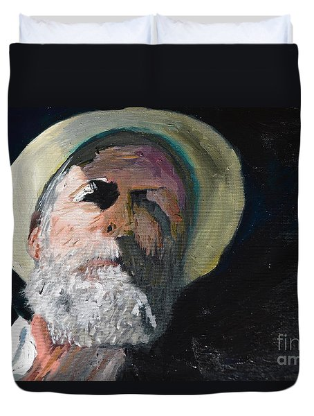 Duvet Cover featuring the painting Self Portrait  by Brian Boyle