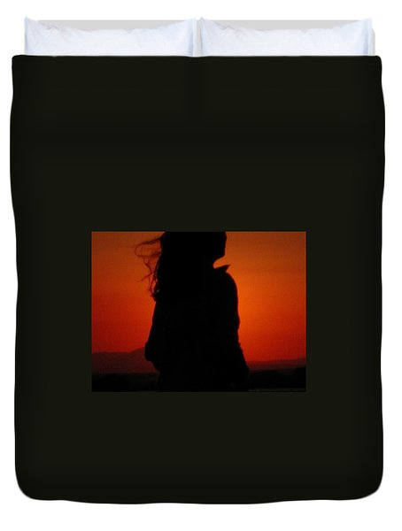Duvet Cover featuring the photograph Self Portrait by Colette V Hera  Guggenheim