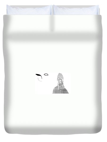 Self Portrait In Text Duvet Cover