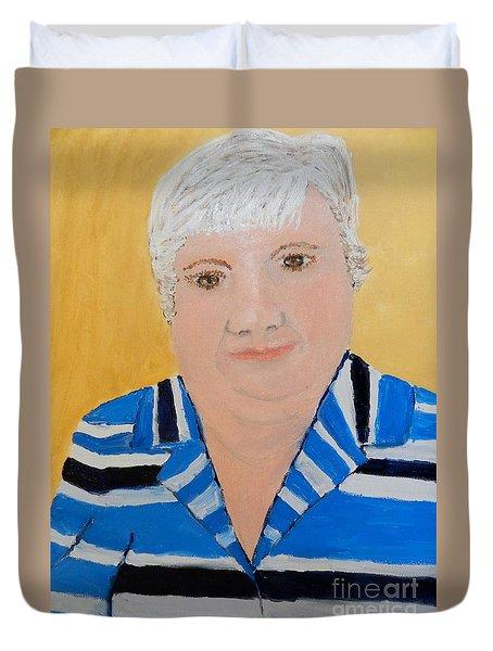 Self Portrait Duvet Cover by Pamela  Meredith