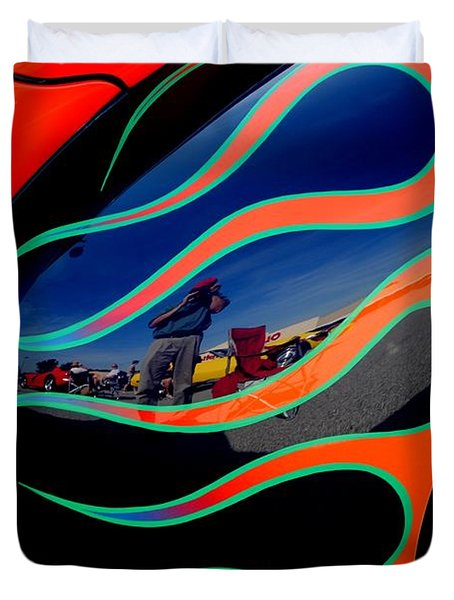 Self Shot Duvet Cover by Frozen in Time Fine Art Photography