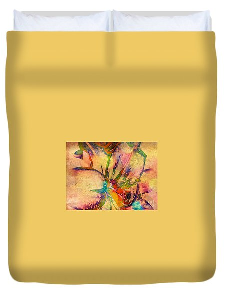 Springtime Floral Abstract Duvet Cover