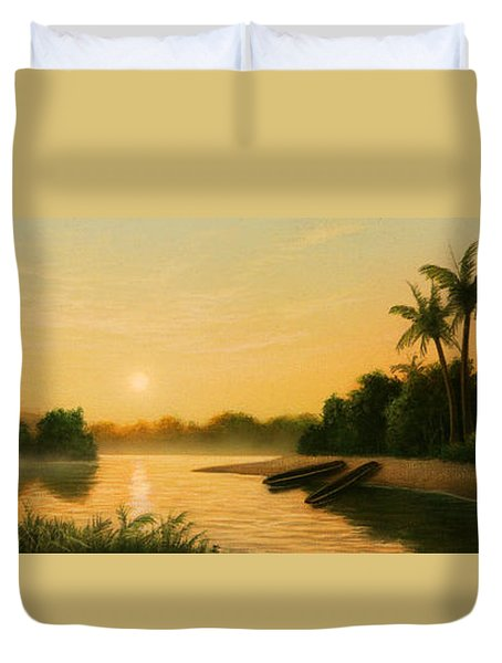 Seminole Sunset Duvet Cover