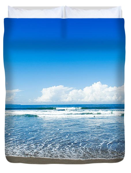 Seminyak Beach Duvet Cover by Yew Kwang