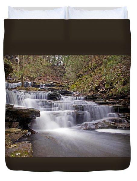 Seneca Falls In Spring Duvet Cover