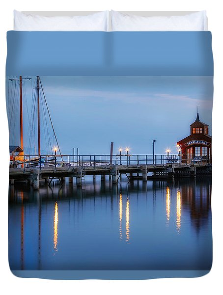 Seneca Lake Duvet Cover by Bill Wakeley