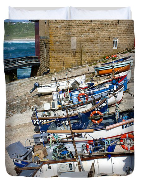 Sennen Cove Fishing Fleet Duvet Cover