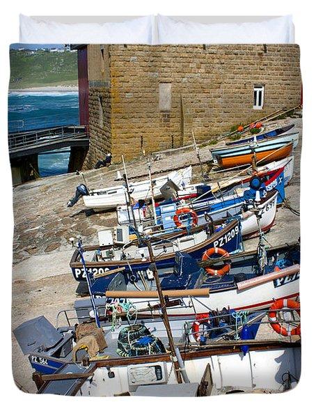 Sennen Cove Fishing Fleet Duvet Cover