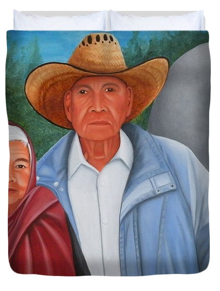 Senor Y Senora Sanchez Duvet Cover