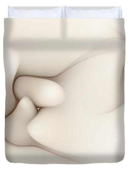 Duvet Cover featuring the digital art Sensual Manifestations 4 by Casey Kotas
