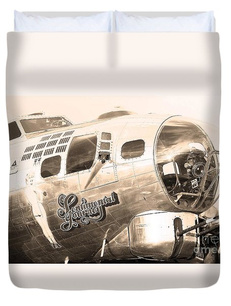 Duvet Cover featuring the photograph Sentimental Journey by Steven Reed