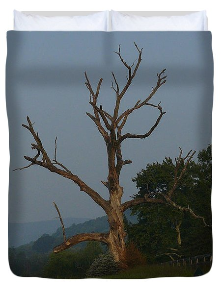 Duvet Cover featuring the photograph Sentinel by Jane Ford