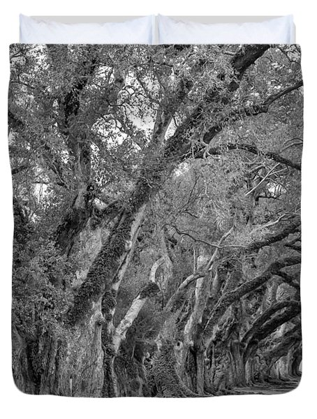 Sentinels Monochrome Duvet Cover by Steve Harrington