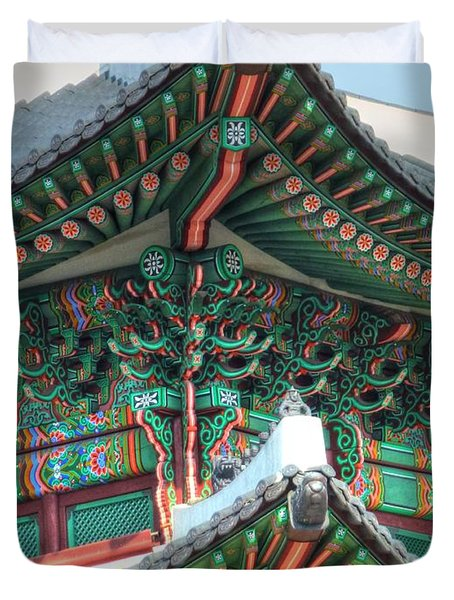 Seoul Palace Duvet Cover by Michael Garyet