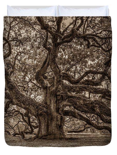 Sepia Angel Oak Duvet Cover