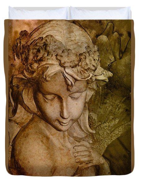 Sepia Angel Duvet Cover