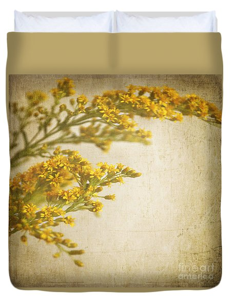 Sepia Gold Duvet Cover by Lyn Randle