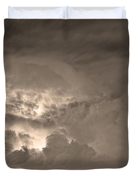Sepia Light Show Duvet Cover by James BO  Insogna