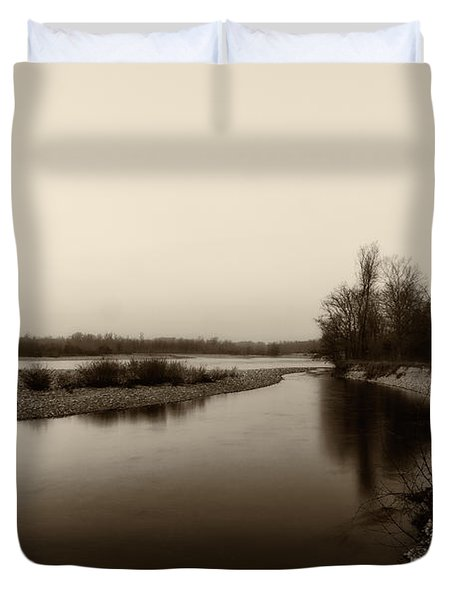 Sepia River Duvet Cover