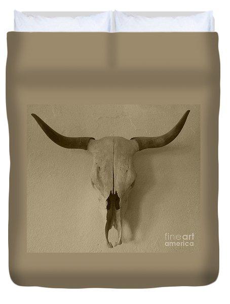 Sepia Skull Duvet Cover