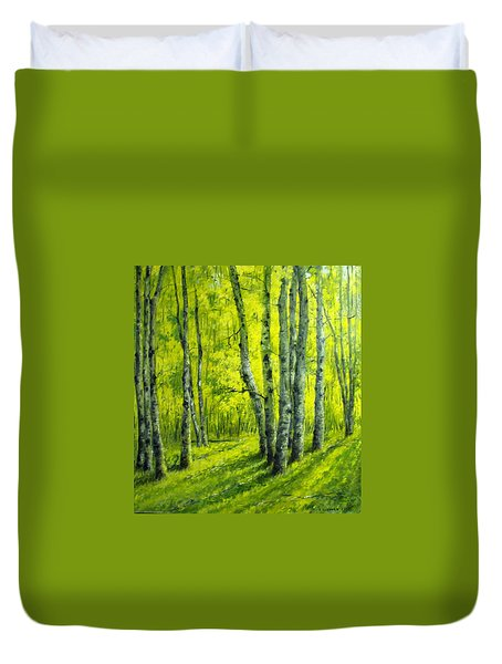 September In The Woods Duvet Cover