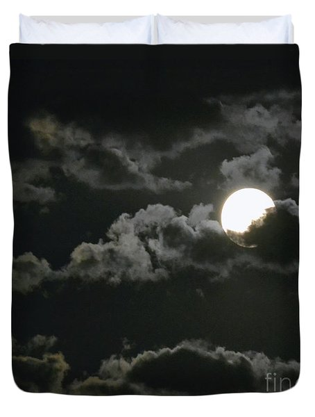 September Moon Duvet Cover