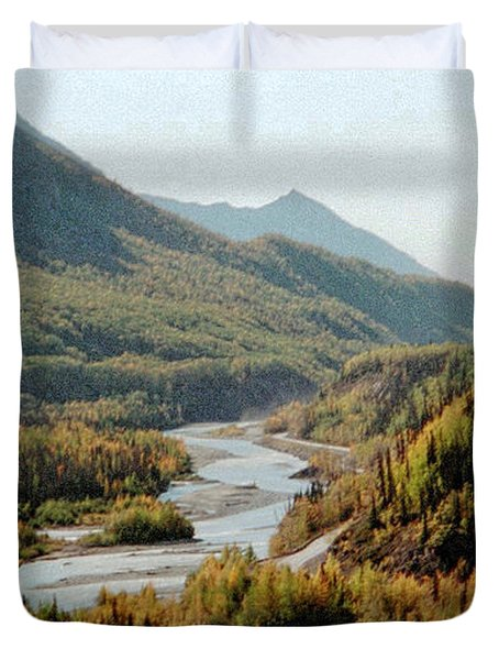 September Morning In Alaska Duvet Cover
