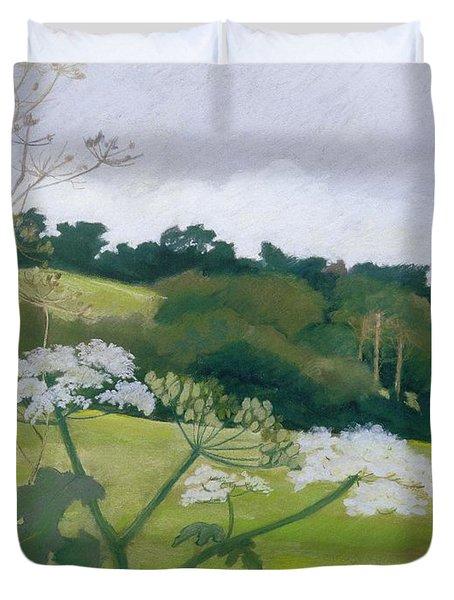 September Pastel On Paper Duvet Cover