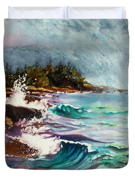 September Storm Lake Superior Painting By Kathy Braud