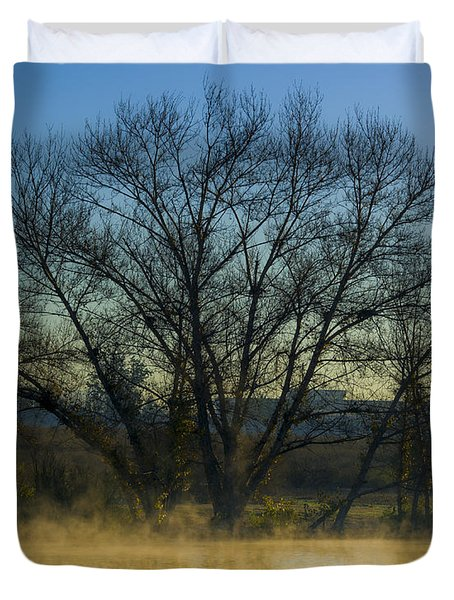 Sepulveda Dam At Dawn On New Year's Day 2015 Duvet Cover