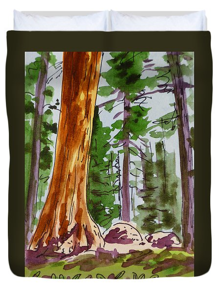 Sequoia Park - California Sketchbook Project  Duvet Cover by Irina Sztukowski
