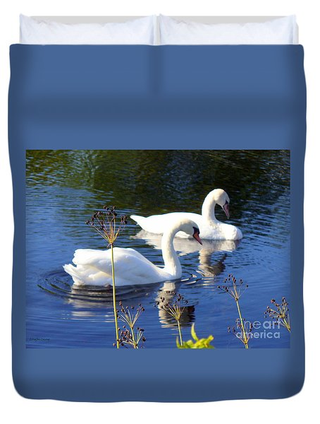 Duvet Cover featuring the photograph Serenade Of  Love by Lingfai Leung